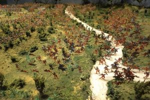 Diorama of the battle at Glenbow Museum, Canada.