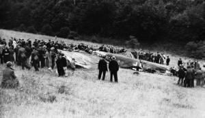 Downed German Bomber