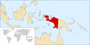 Located - West Papua and Papua New Guinea