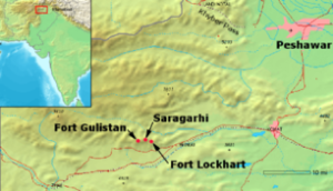 Location of battle