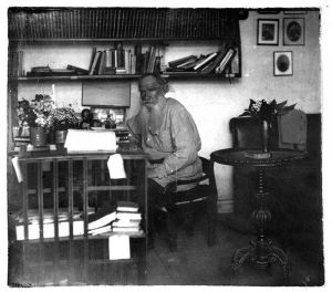 Tolstoy in his study 1908