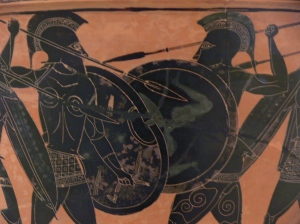 Hoplite_fight_from_Athens_Museum