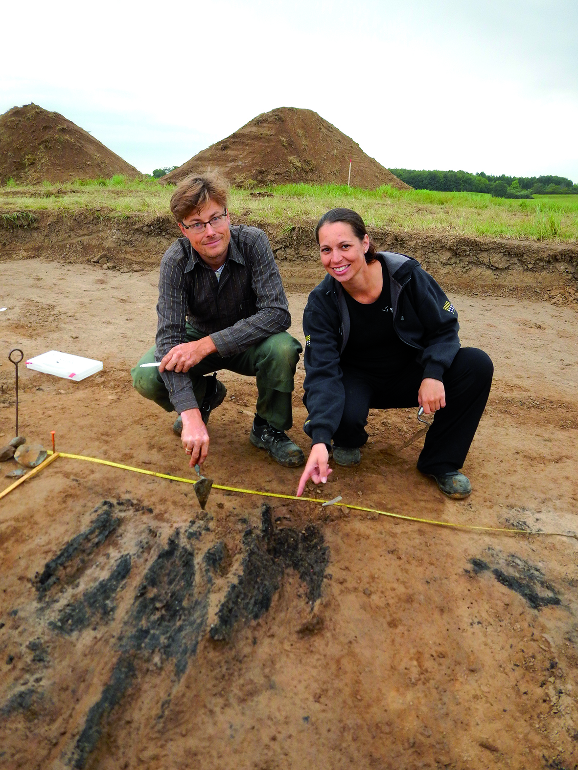 archaeologists at work in Denmark