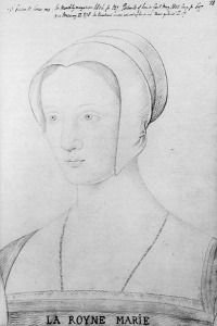 Mary Tudor drawn when she was Queen of France