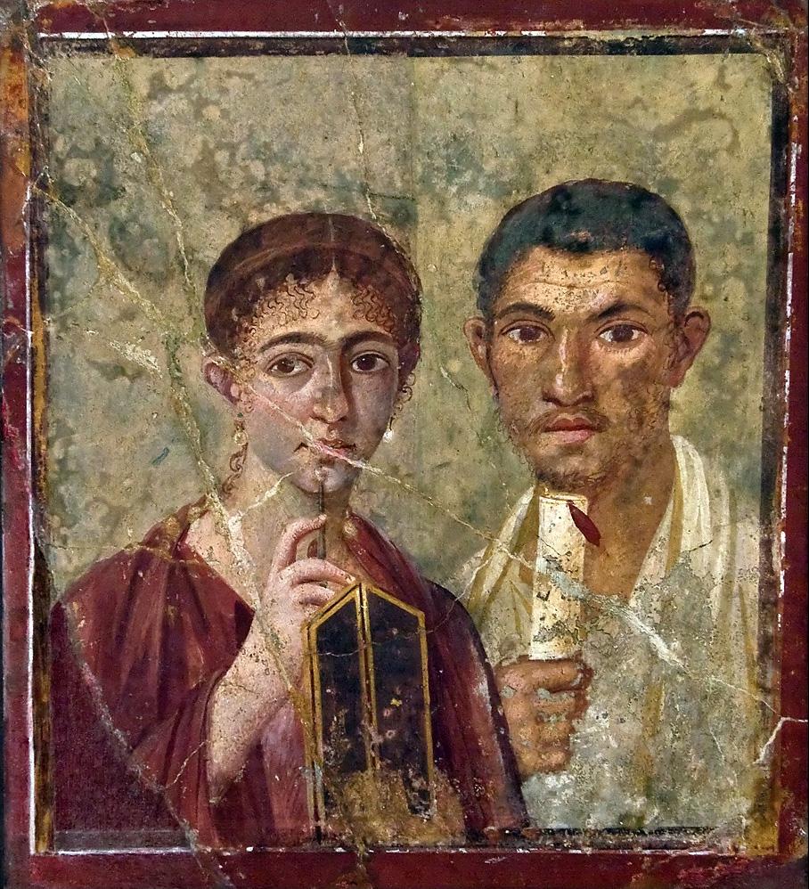 a portrait of a Pompeian couple Pompeian couple
