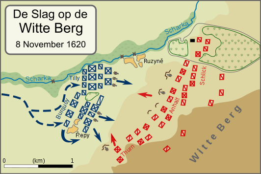 Battle of White Mountain initial dispositions