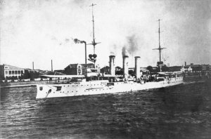 SMS Emden in Tsingtao harbour