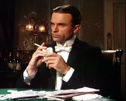 Sam Neill portraying Sidney Reilly in the TV mini-series, Reilly: Ace of Spies (1983).