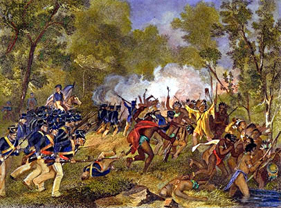 Battle of Tippecanoe US soldiers repulse Native American warriors