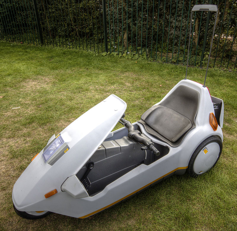 Sir Clive Sinclair Launches The Sinclair C5