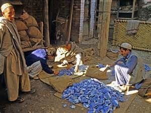 Lapis lazuli mining in Afghanistan