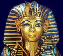 Mask inlaid with lapis lazuli