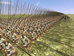 Macedonian phalanx formation