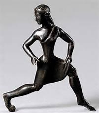 Bronze figurine of Spartan girl dancing