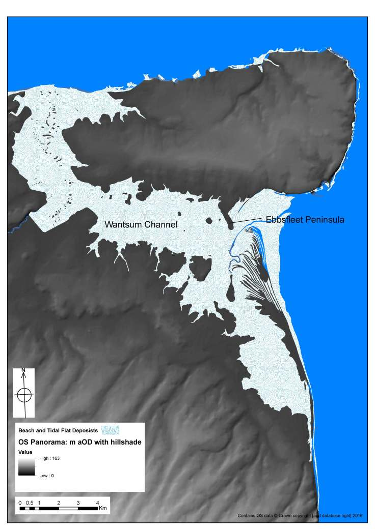 3 Lidar model of topography of Thanet showing Ebbsfleet.jpg